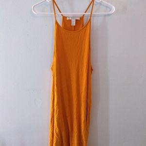 Orange halter dress XL